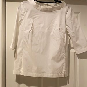 White poplin top, cotton
